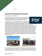 Du tourisme communautaire à la Française