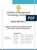 Currency derivatives trading in India survey project report