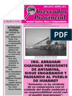 Observador Provincial - Agosto 2011