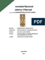 Economia Campesina:Resumen sobre Estudio de dos comunidades campesinas en Ayacucho