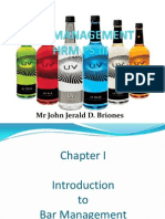 Bar Management (Operation Procedure) Chapter I