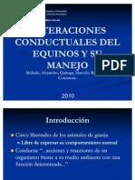 Alteraciones Conductuales Del Equinos y Su Manejo