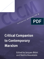 Critical Companion to Contemporary Marxism Historical Materialism Book Series