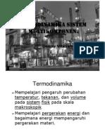Kuliah 1 Outline Termodinamika Multikomponen[1]