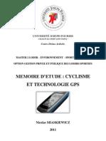 Memoire 2011 - Cyclisme Et Technologie Gps - Miaskiewicz Nicolas