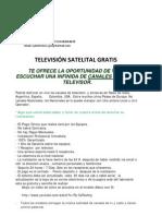 TELEVISIÓN SATELITAL GRATIS