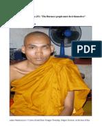 "Ashin Nandaciriya (25)""The Burmese people must do it themselves"""