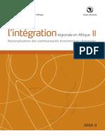 État de L'integration en Áfrique II- Rationalisation des communautes économiques Regionales -FR_Final