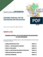 Acari Iron Ores Proposal Exploitation 1.1 Billion Dollars Noe Peru