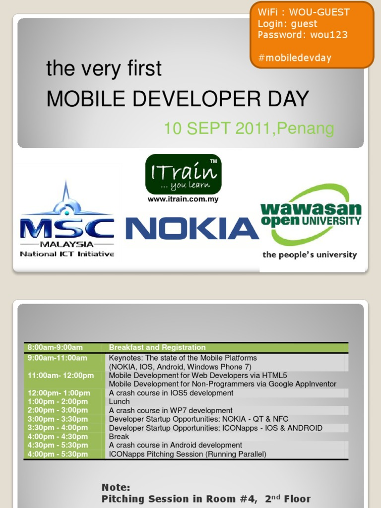 MobileDevDay Keynote: State of the Mobile Platforms
