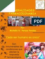 generalidades de farmacodinamia