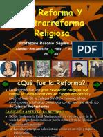 Reforma y Contrarreforma Religiosa