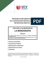 GUIA PARA LA ELABORACION DE TRABAJOS MONOGRÁFICOS