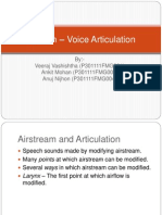 Speech – Voice Articulation