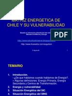 Matriz Energetic A de Chile y Su Vulnerabilidad.l