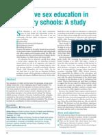 Sex Education in Primary Schools