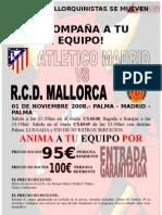 Viatge per al partit At.Madrid - Mallorca