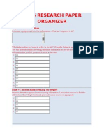 big 6 research paper organizer