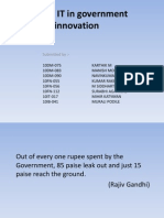Role of IT in Government Innovation