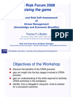 Control and Risk Self-Assessment of Stress Management