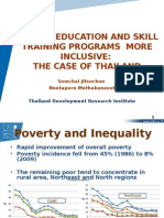 Making education and skill training program more inclusive