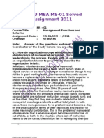IGNOU MBA MS-01 Solved Assignments 2011[1]