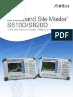 Anritsu Site Master s810d-s820d Stat Sheet
