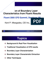 CEI Extraction of Boundary Layer Characteristics From Fluent Results