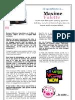 10 questions à Maxime Valette