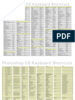 PSCS Keyboard Shortcuts PC