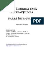 I.L. Caragiale - Conu Leonida Fata Cu Reactiunea