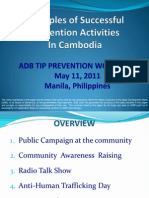 Examples of Trafficking Prevention Projects from Cambodia