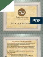 Purse Prime Bag Care Guide