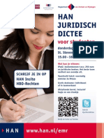 Poster HAN Juridisch Dictee