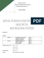 Nsg Process - Renal