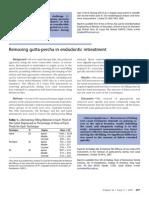 Removing Gutta-percha in tic Re Treatment