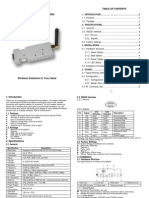 User Manual for Bluetooth Serial Adapter