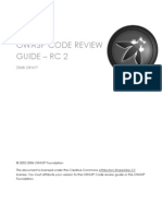 OWASP Code Review 2007 RC2 - Version for Print