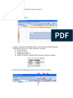 Excel Questions