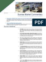 KBC Morning Sunrise Market Commentary 09-012-2011