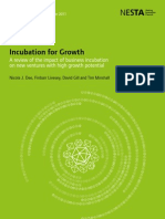 Incubation for Growth