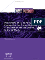 Implications of Trade Policy Changes for the Competitiveness of Ecuadorian Banana Exports  to the EU Market