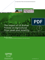 The Impact of US Biofuel Policies on Agricultural Price Levels and Volatility