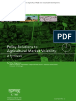 Policy Solutions to  Agricultural Market Volatility