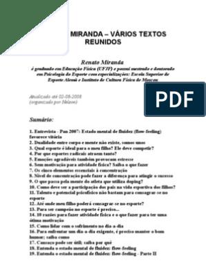 Renato Miranda Vários Textos Reunidos Educação Física E