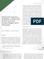 Interaccion Humana y Ambiente. El Desarrollo de Kuel en Puren-Lumaco (Reg Araucania