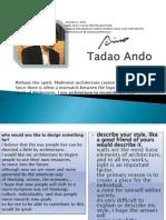 Tadao Ando Presentation