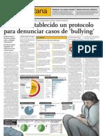 No Se Ha Establecido Un Protocolo Para Denunciar Casos de Bullying