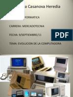 Evolución de las computadoras