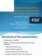 Proposed Regional Programme on CCFS June27 Dhaka